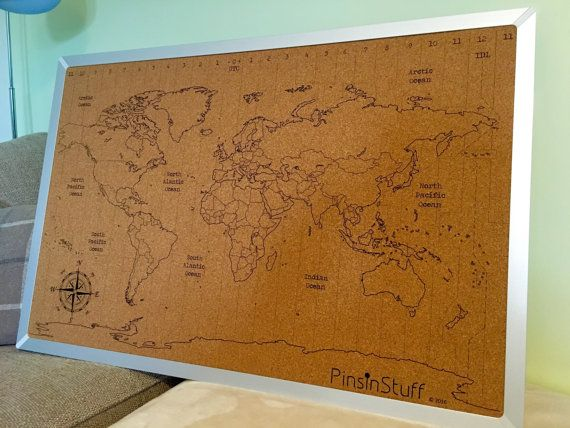 World map cork pinboard 600x900mm by instuffdesign on etsy our world map cork pinboard 600x900mm by instuffdesign on etsy gumiabroncs Image collections