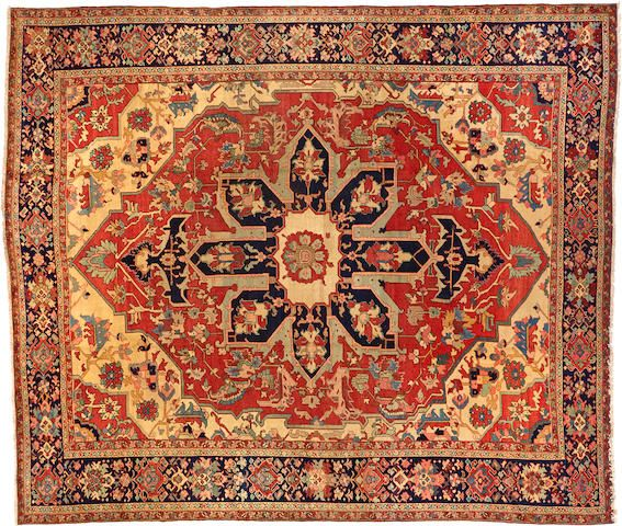 Heriz Carpet Northwest Persia Circa 1900 Size Approximately 10ft 6in X 12ft 4in From The Collection Of Mr Antique Persian Carpet Carpet Persian Carpet