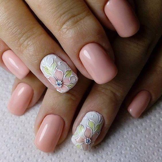cute and simple nail art 2018