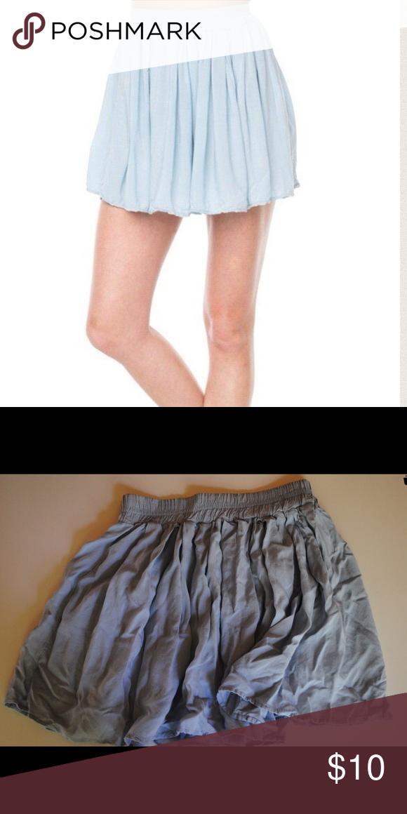 Light Blue Brandy Melville Skirt Light blue Brandy Melville Flowy Mini skirt Brandy Melville Skirts Circle & Skater