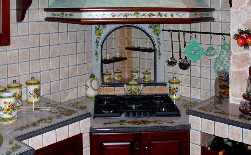 Piano Cottura Per Cucina In Muratura.Cucina Con Piano Cottura Ribassato Cucine Cucina In Muratura Piani Cottura