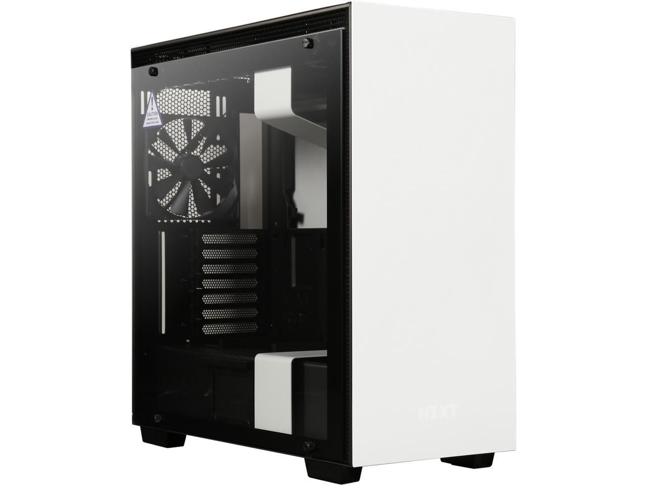Nzxt H510 Compact Atx Mid Tower Pc Gaming Case Front I O Usb Type C Port Tempered Glass Side Panel Cable Management System Water Cooling Ready Steel Cable Management