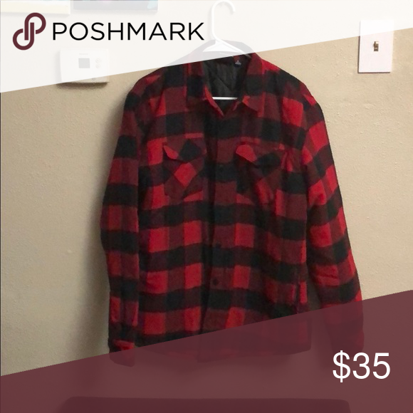Red Quilted Flannel Jacket With Images Flannel Jacket Red Quilts Red Flannel