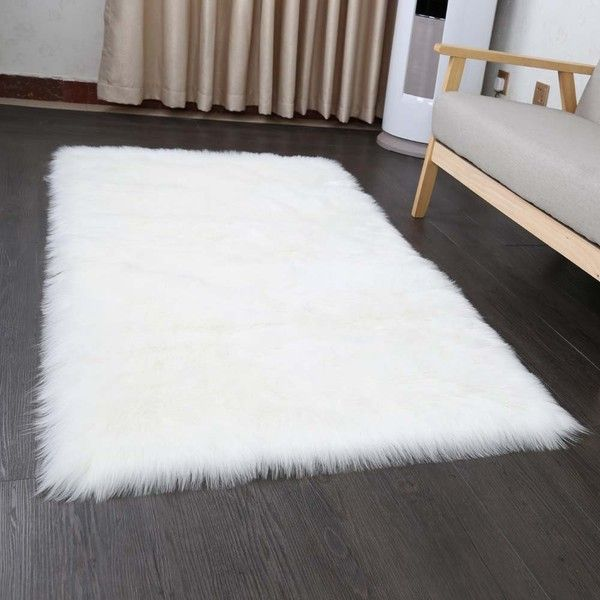 Pinkday Faux Sheepskin Area Rug Home Rugs Jungle Sheep Skin Fluffy