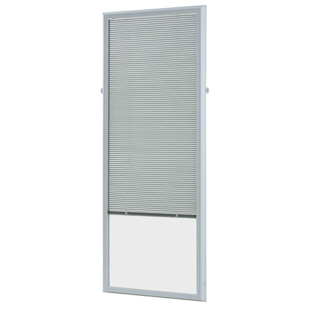 ODL in w x in h AddOn Enclosed Aluminum Blinds White Steel