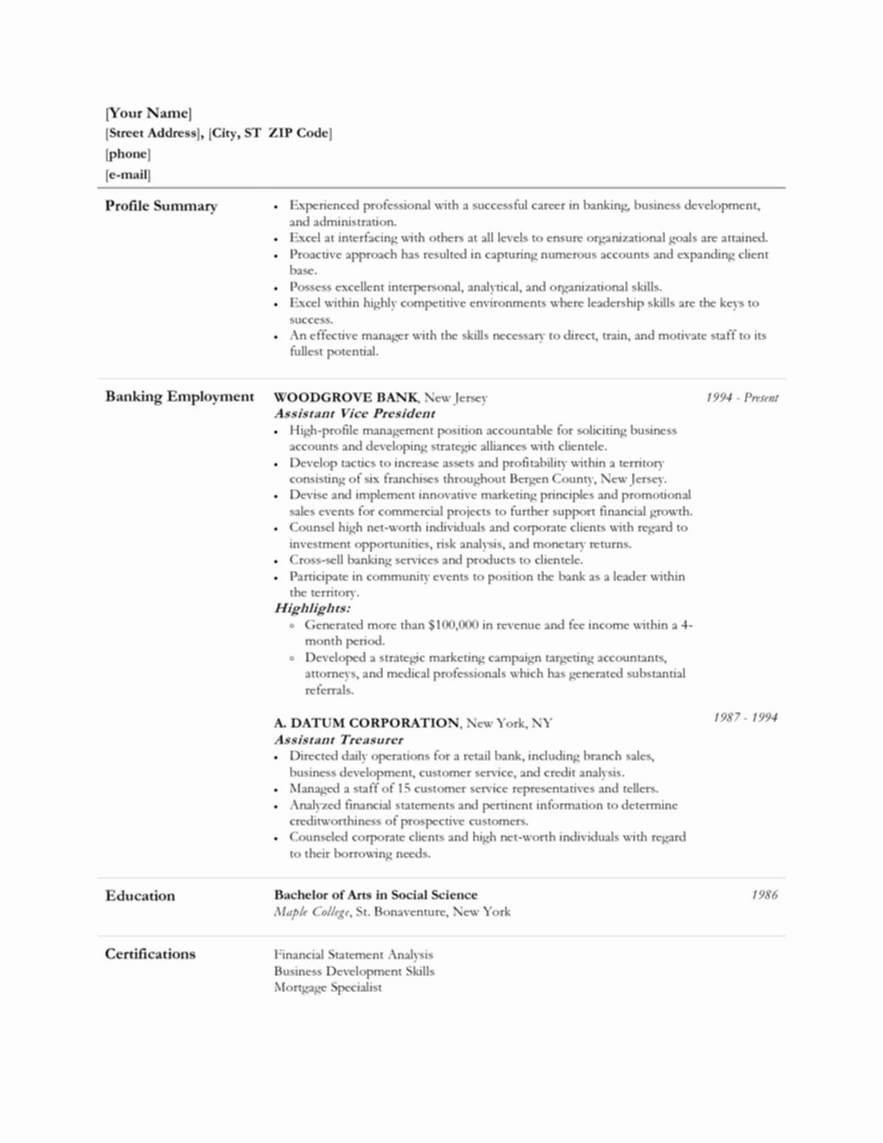 Bank Teller Resume Examples Beautiful Bank Teller Resume