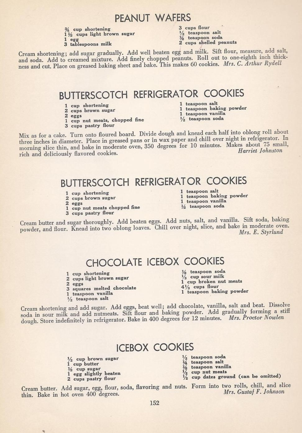 Vintage Cookies Recipes From 1940 Vintage Recipes Cookie Recipes Old Recipes