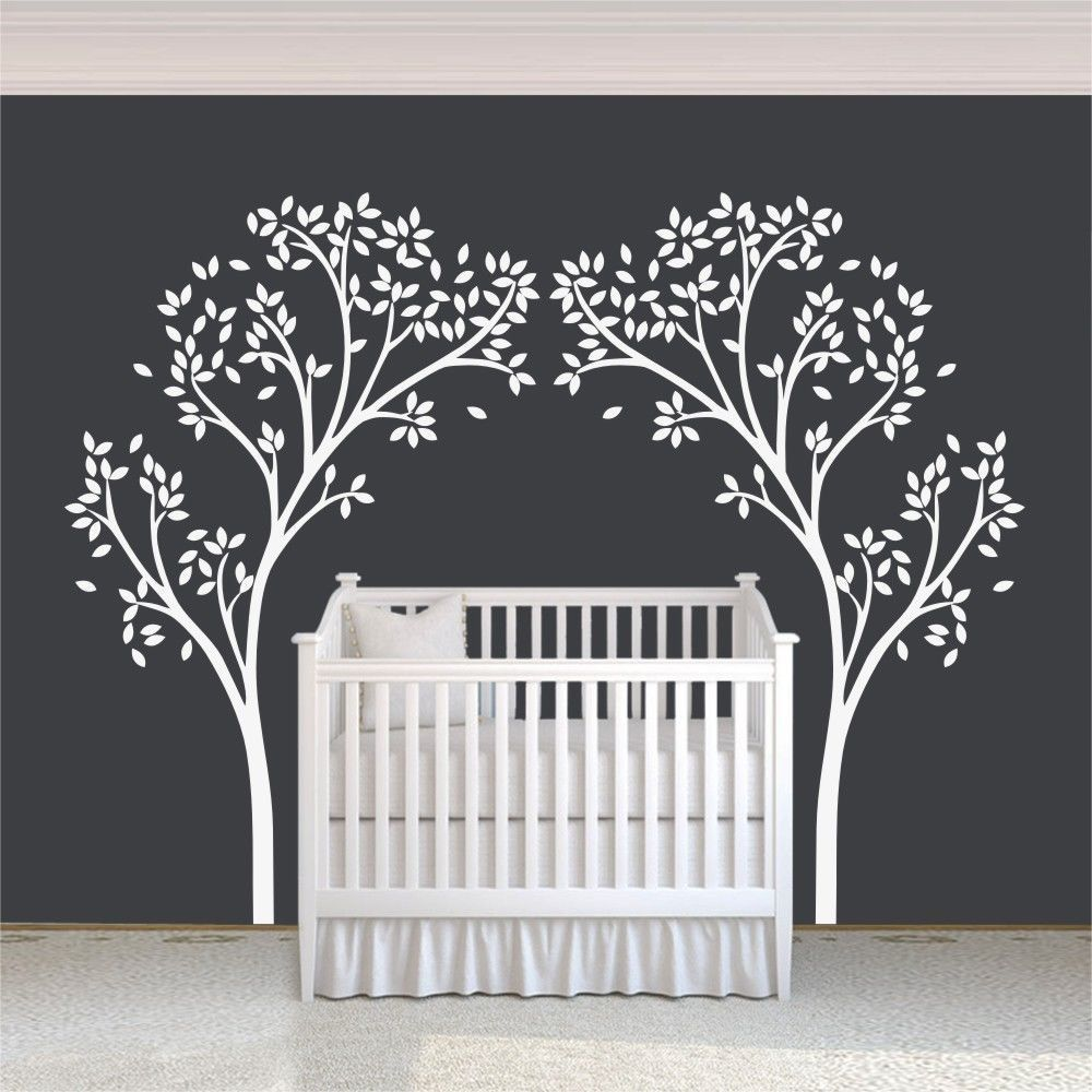 White Tree Wall Decal Inspiration Removable Art Vinyl Nursery Room - How to put up a tree wall decal