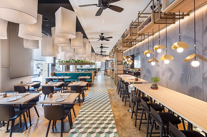 Concrete Completes Mama Makan A Dutch Indonesian Grand Cafe In Amsterdam Restaurant Luminaire Cafe