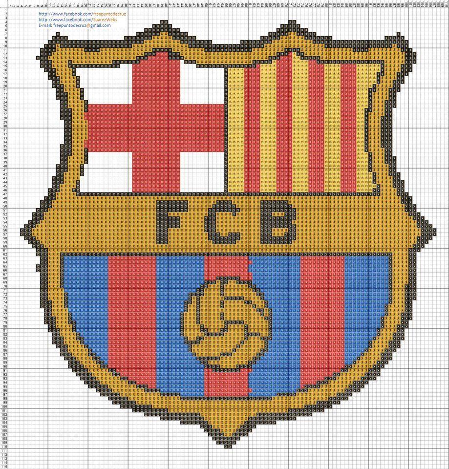 Fc barcelona logo pinterest fc barcelone barcelone et point de croix - Logo barcelone foot ...