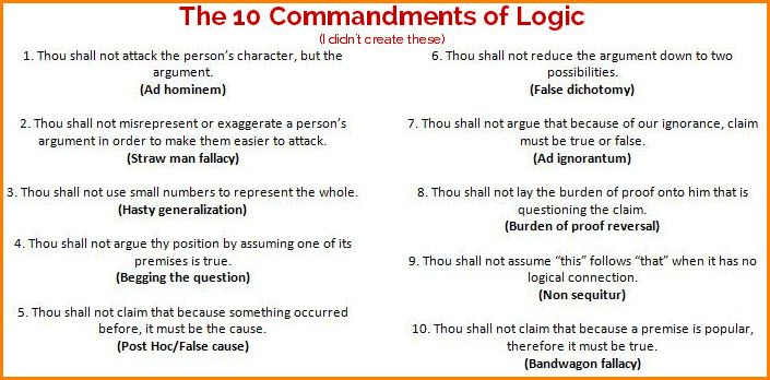 TheCommandmentsOfLogicJpg   Educational Or