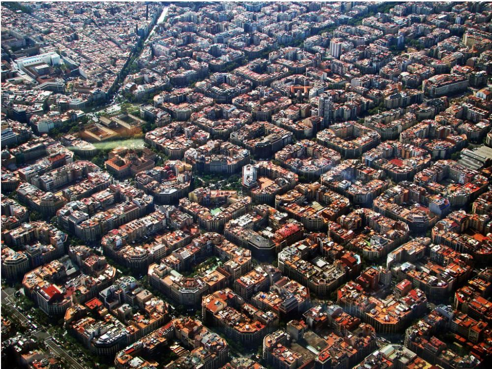 The Astounding Design Of Eixample Barcelona Urban Planning - Barcelona map eixample district