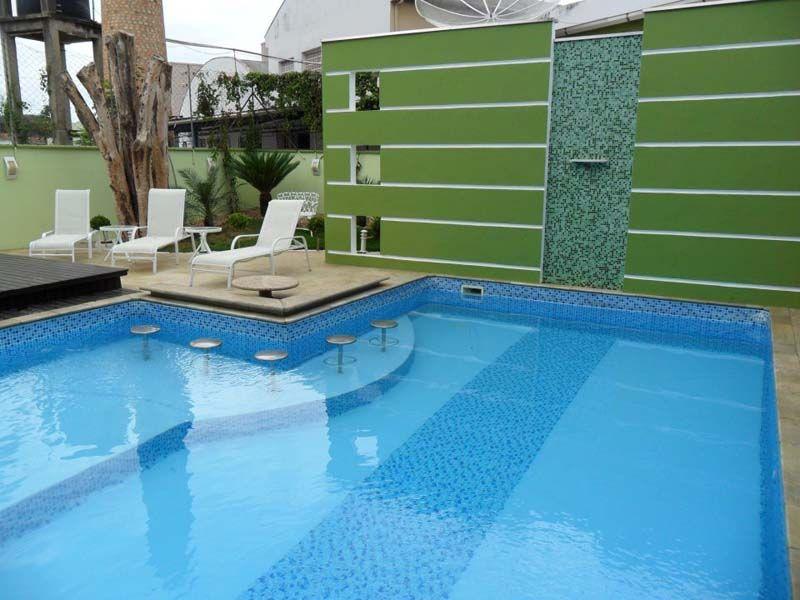 quintal com piscina de fibra - Pesquisa Google Inspiração em Área