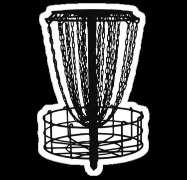Disc Golf Basket Sticker By Nerdtown Disc Golf Basket Disc Golf Disc Golf Gifts