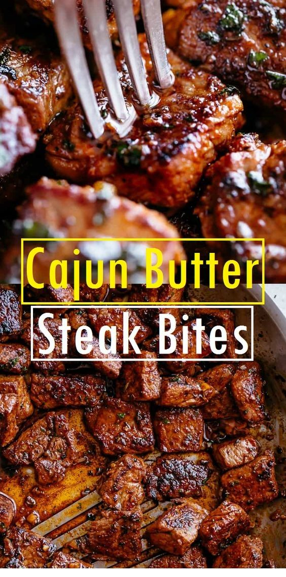 Cajun Butter Steak Bites  #beefsteakrecipe