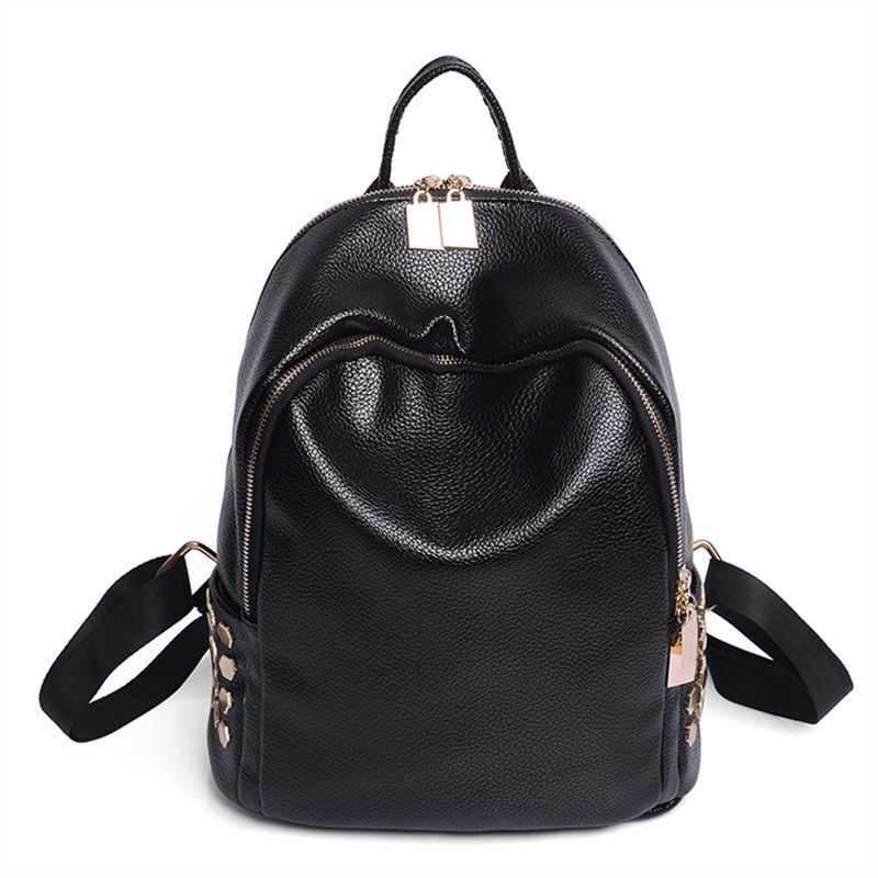 f80924741f9 2017 New PU Leather Women Backpack Female Fashion Rucksack Brand Designer  Ladies Back Bag High Quality