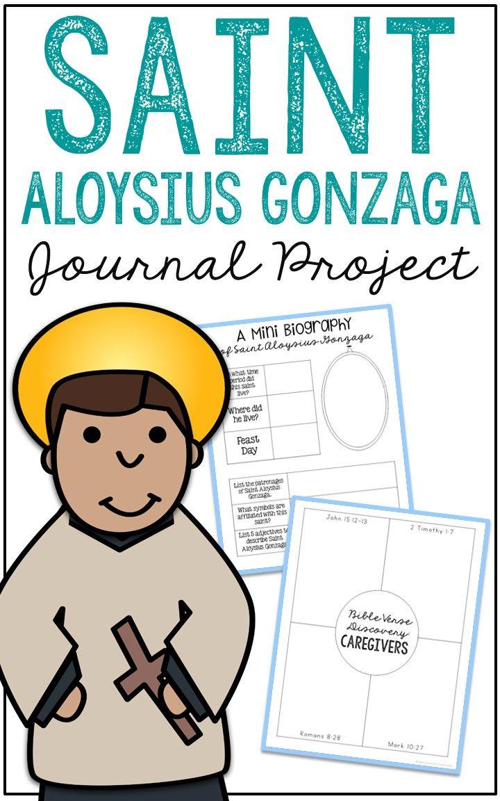 Saint Aloysius Gonzaga Notebook Journal Project Christian