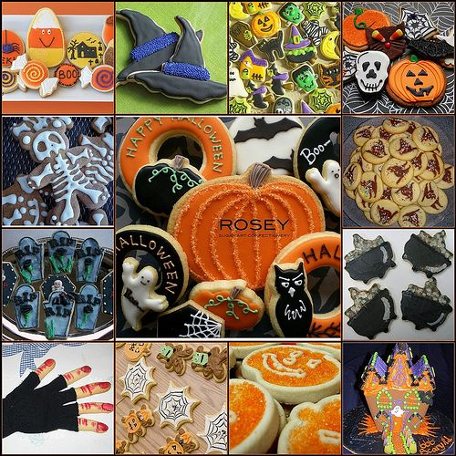 Halloween Cookie Collage