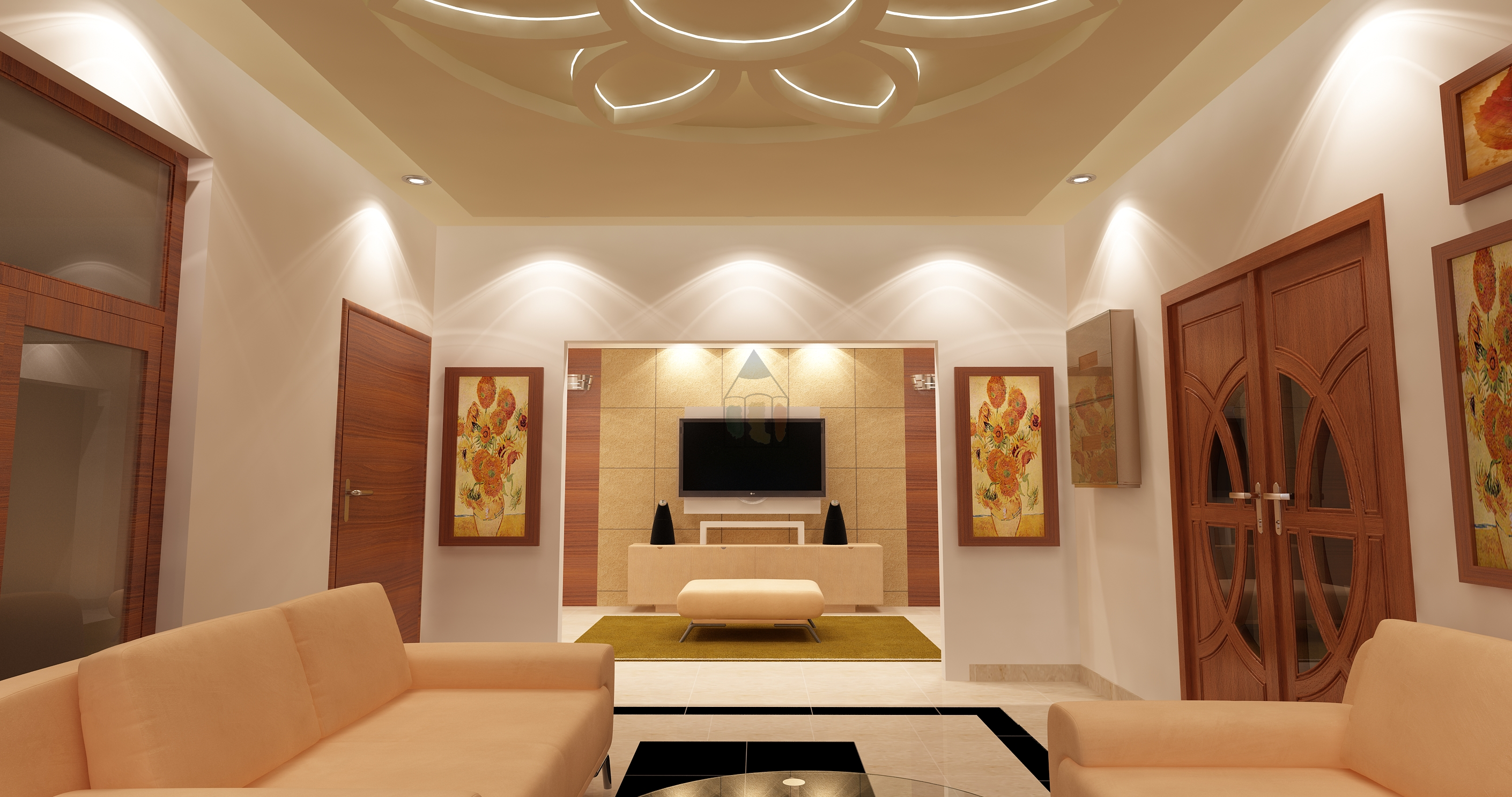 TV Lounge Decoration with TV lounge ceiling design idea. The ...