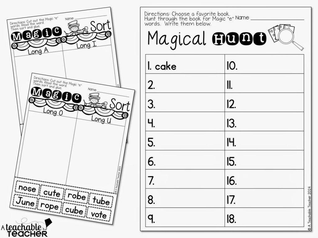 Teaching Cvce With Magic E A Teachable Teacher Pearson Math Kindergarten Math Worksheets Education Math