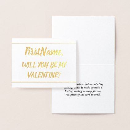 Simple and Custom Valentine\'s Day Card