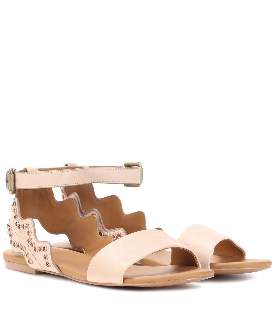 Embellished leather sandals See By Chlo Store With Big Discount Cheap Good Selling N0wIBcQqJO