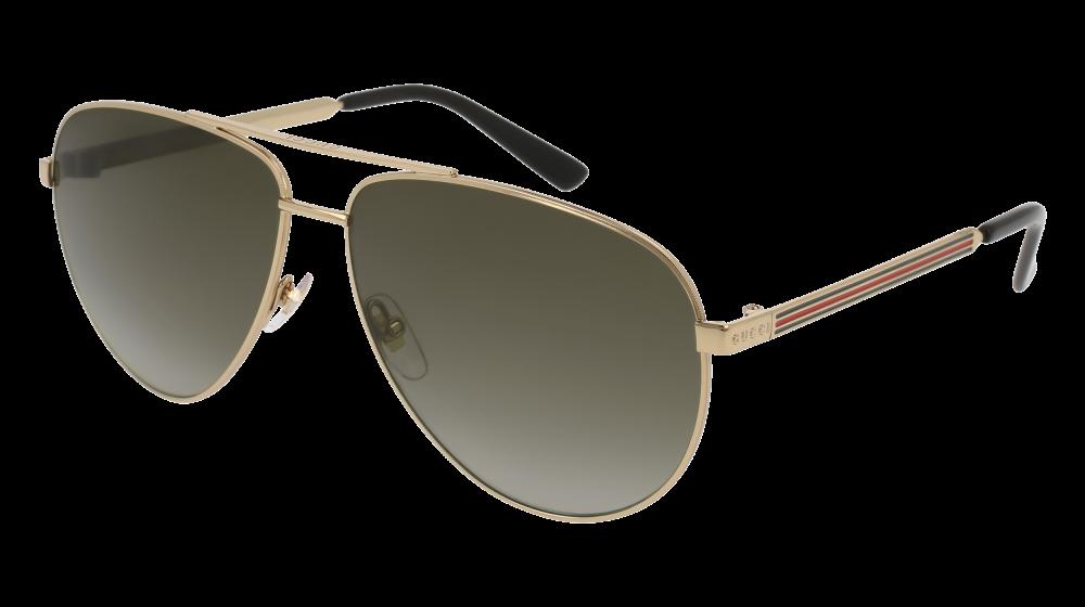 da582f9d4f Gucci - GG0137S-001 Gold Sunglasses   Brown Gradient Lenses ...