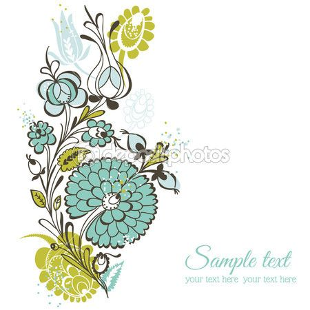 Beautiful Floral Background - retro flowers - for wedding, scrap
