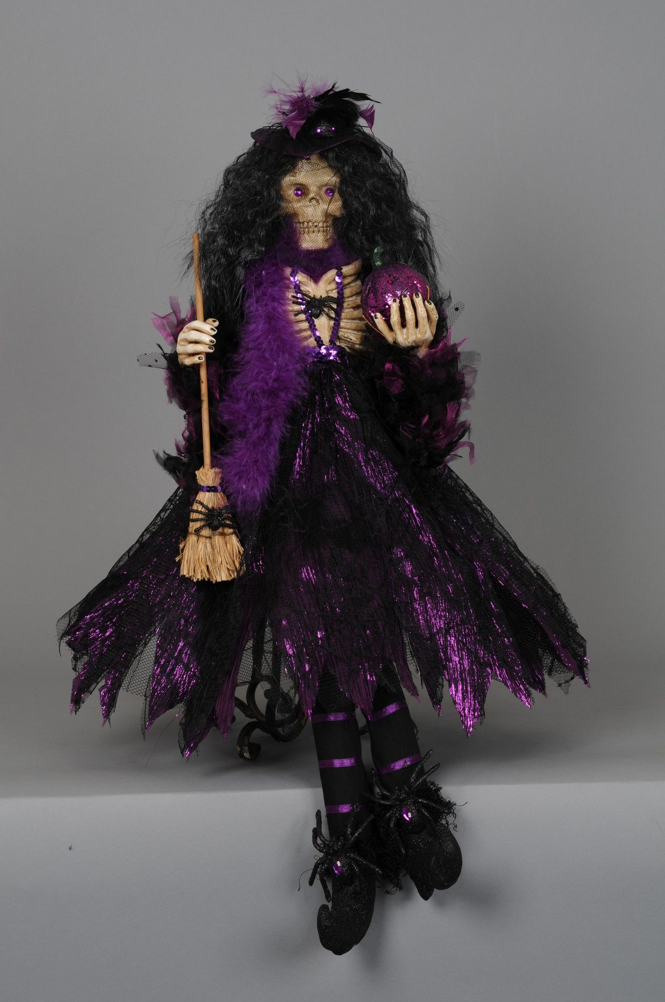 Karen Didion Spooktacular Halloween Skeleton Witch