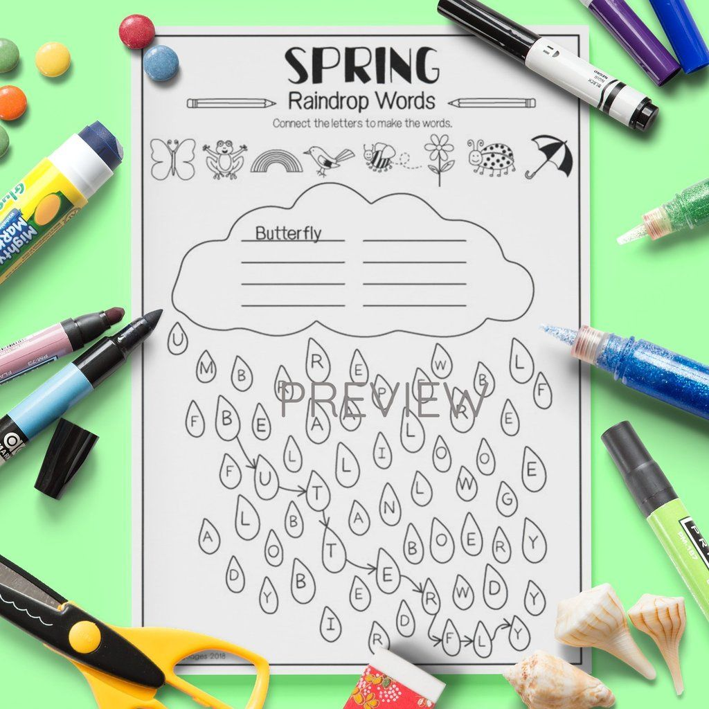 Seasons Spring Raindrop Words