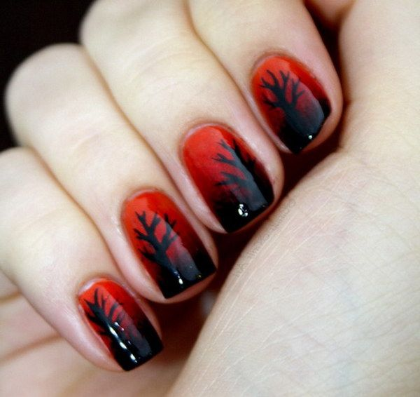 Stylish Red And Black Nail Art To Try This Summer
