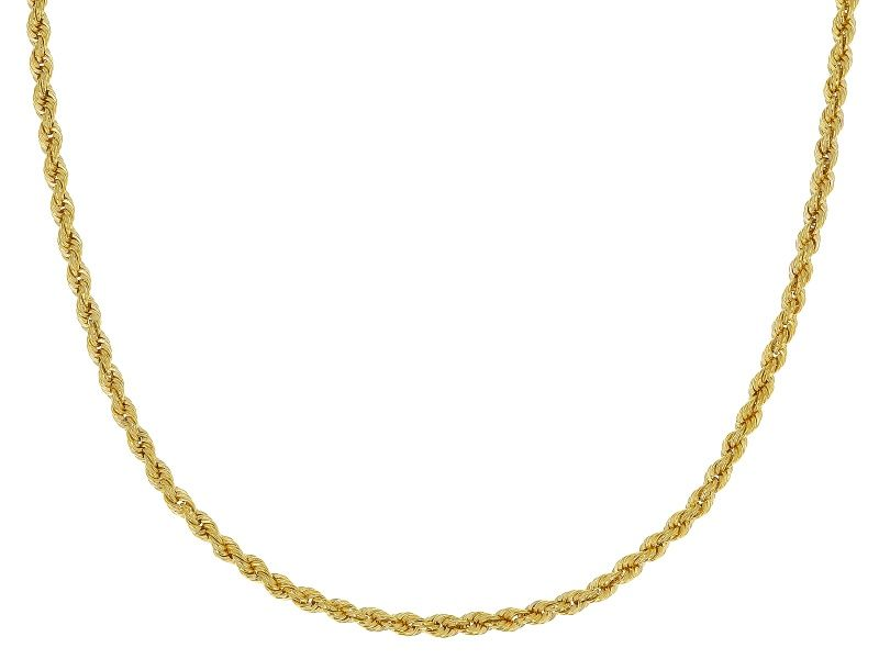 10k Yellow Gold Rope Chain Necklace 18 Inch In 2019 Jewelry Necklaces Gold Rope Chains Gold Necklace Jewelry