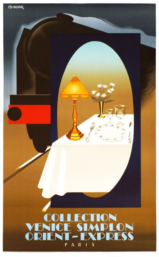 collection venice simplon orient express paris vintage posters galerie 123 the place to. Black Bedroom Furniture Sets. Home Design Ideas