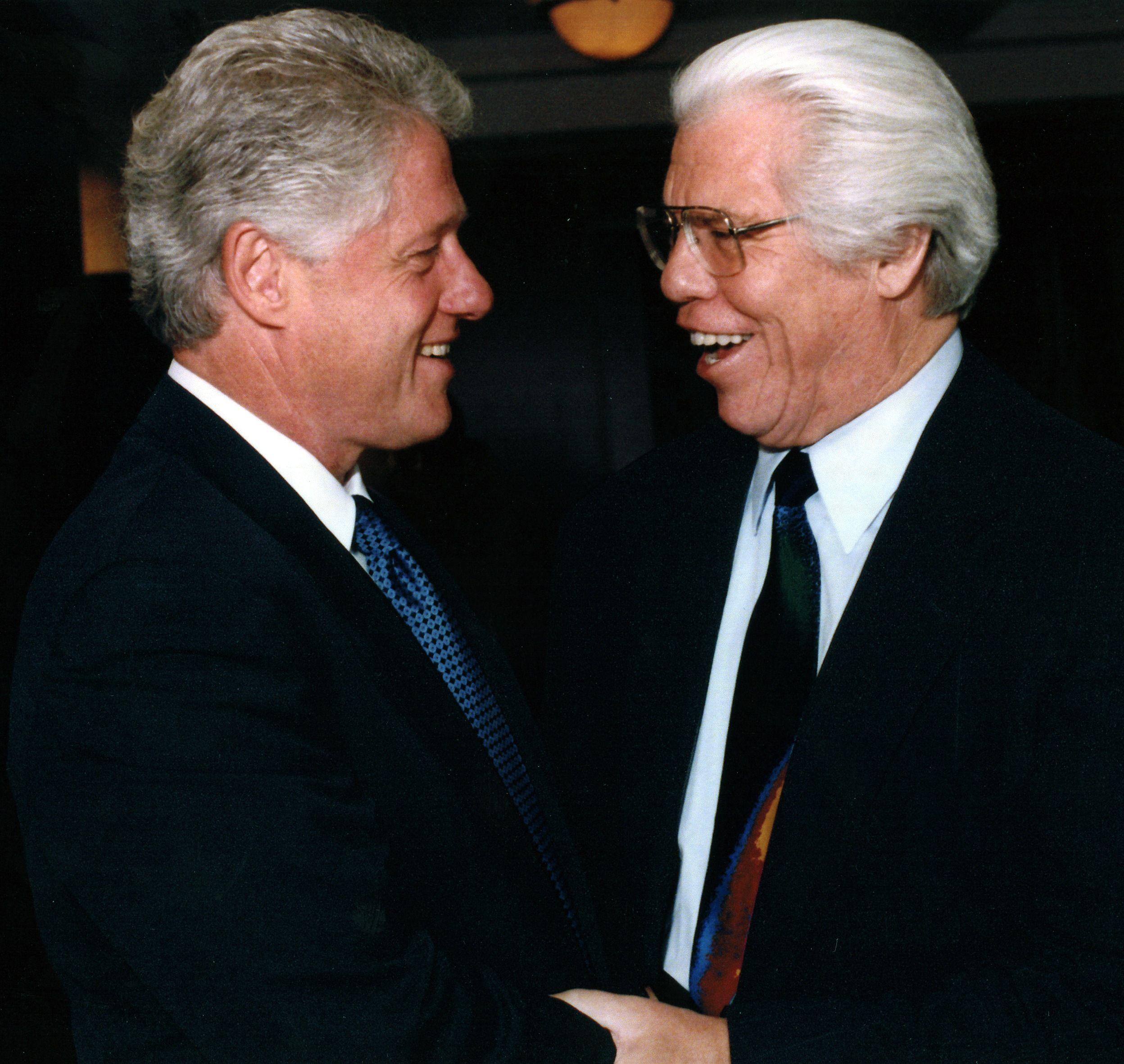 Bill Austin and President Bill Clinton