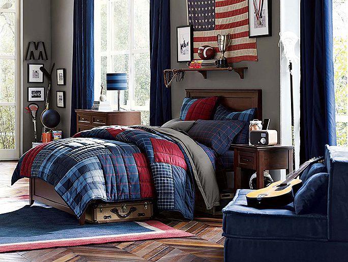 I love the PBteen Hampton Plaid Bedroom on