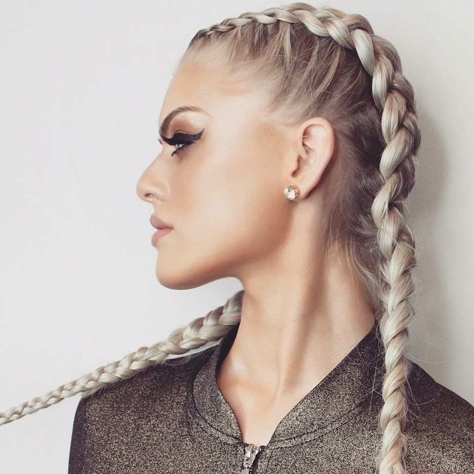 Hotloxs Hair Extensions Ash Blondexer Style Double Dutch Braid
