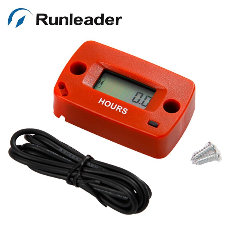 Inductive LCD Gasoline Engine Digital Hour Meter for maintain Marine ATV Motorcycle Snowmobile lawn mower forklift truck jet ski