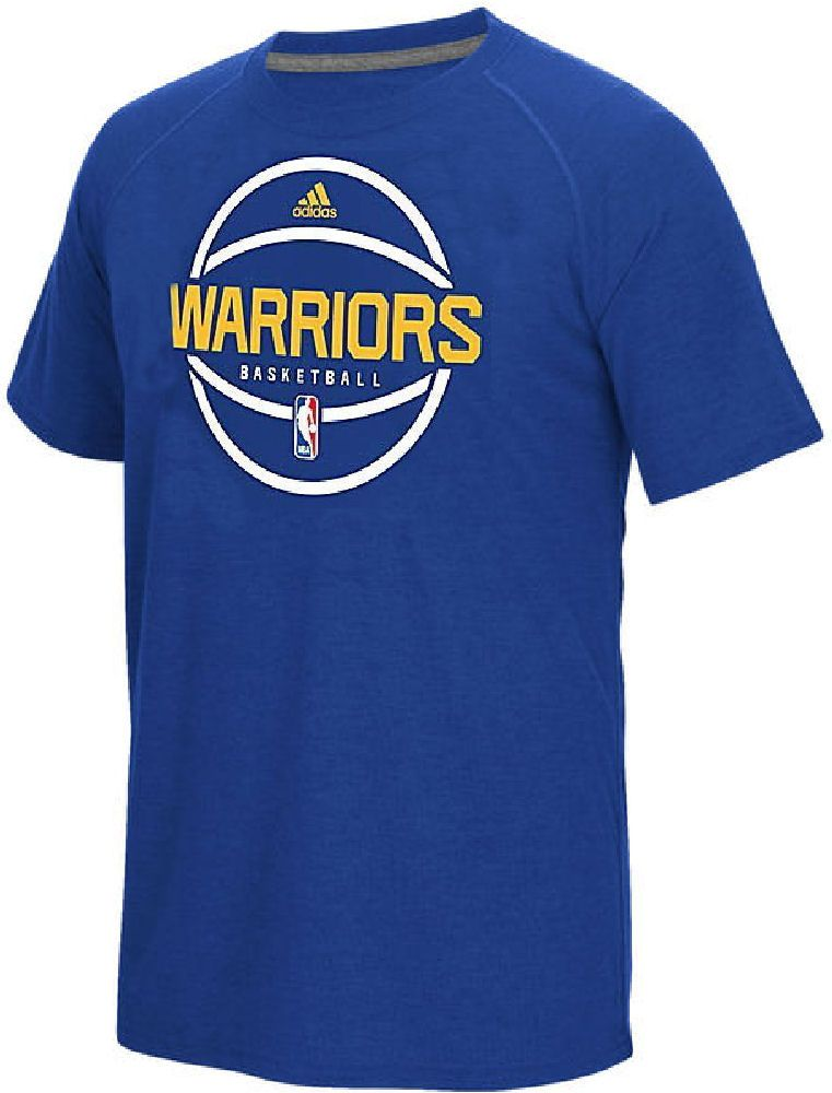 231c841d5f6d Golden State Warriors Adidas Slim Fit Royal Pre-Game Ultimate Synthetic Short  Sleeve T Shirt  34.95