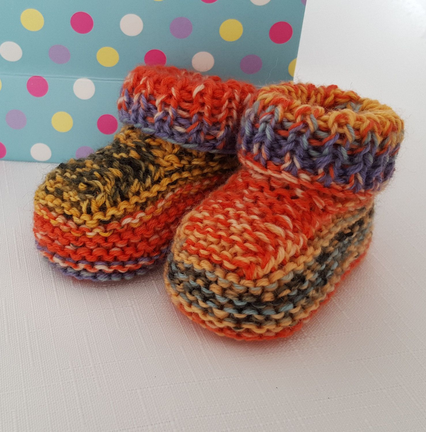 Knitted Baby Booties Handmade Wool Baby Shoes Uni Knitted