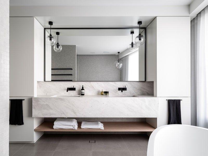 Holzregal Badezimmer ~ Badezimmer design ideen offenen regal unterhalb der arbeitsplatte