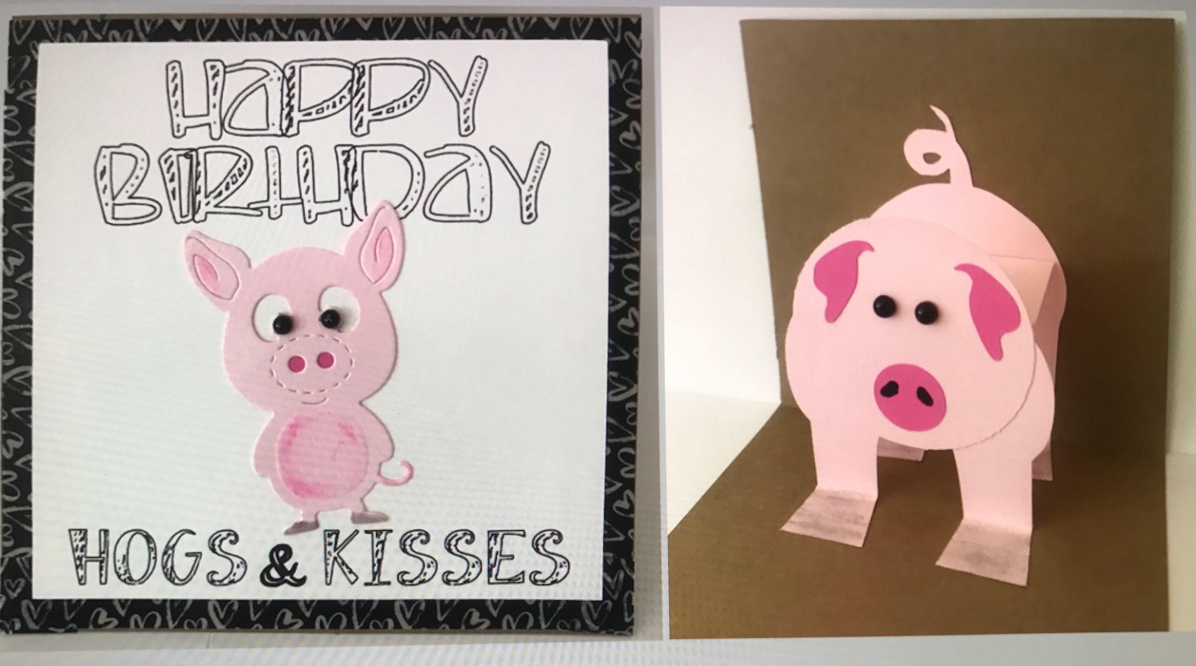 Pop Up Pig Birthday Card Birthday Cards Cards Pig Birthday
