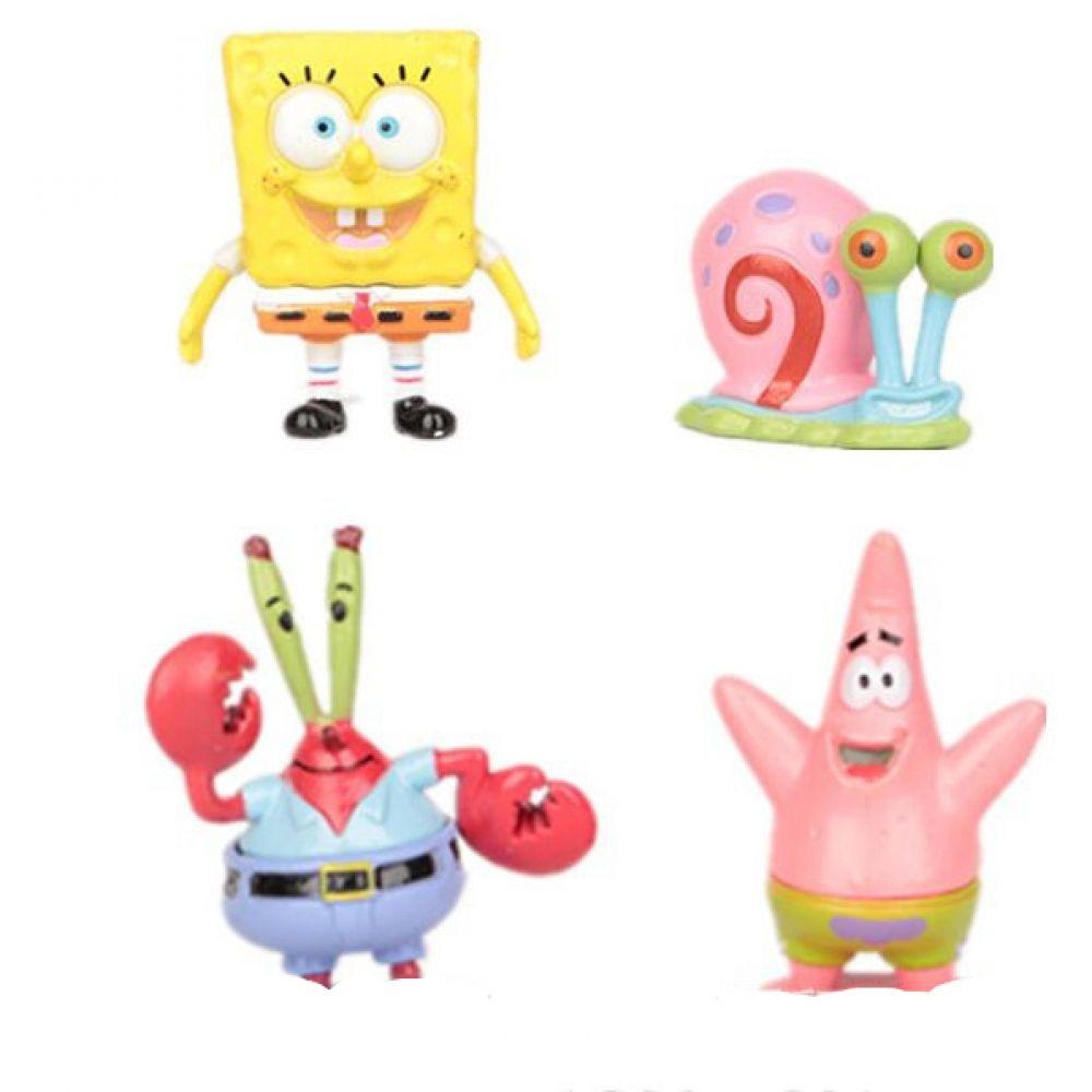 Baby toys images cartoon  Set PVC Sponge Bob Toy Figures Price  u FREE Shipping