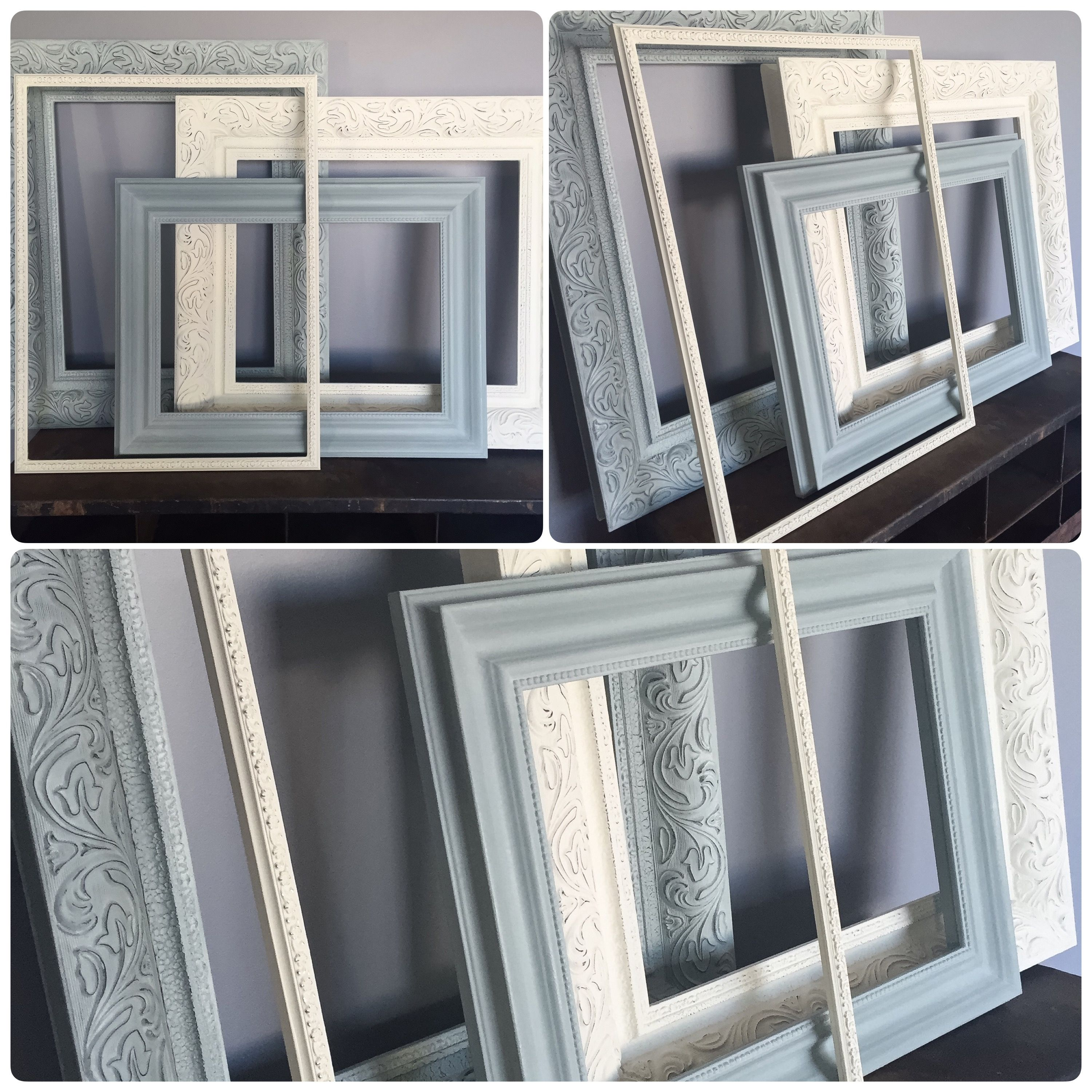 Hand Painted Wood Frames Using Annie Sloan Chalk Paint