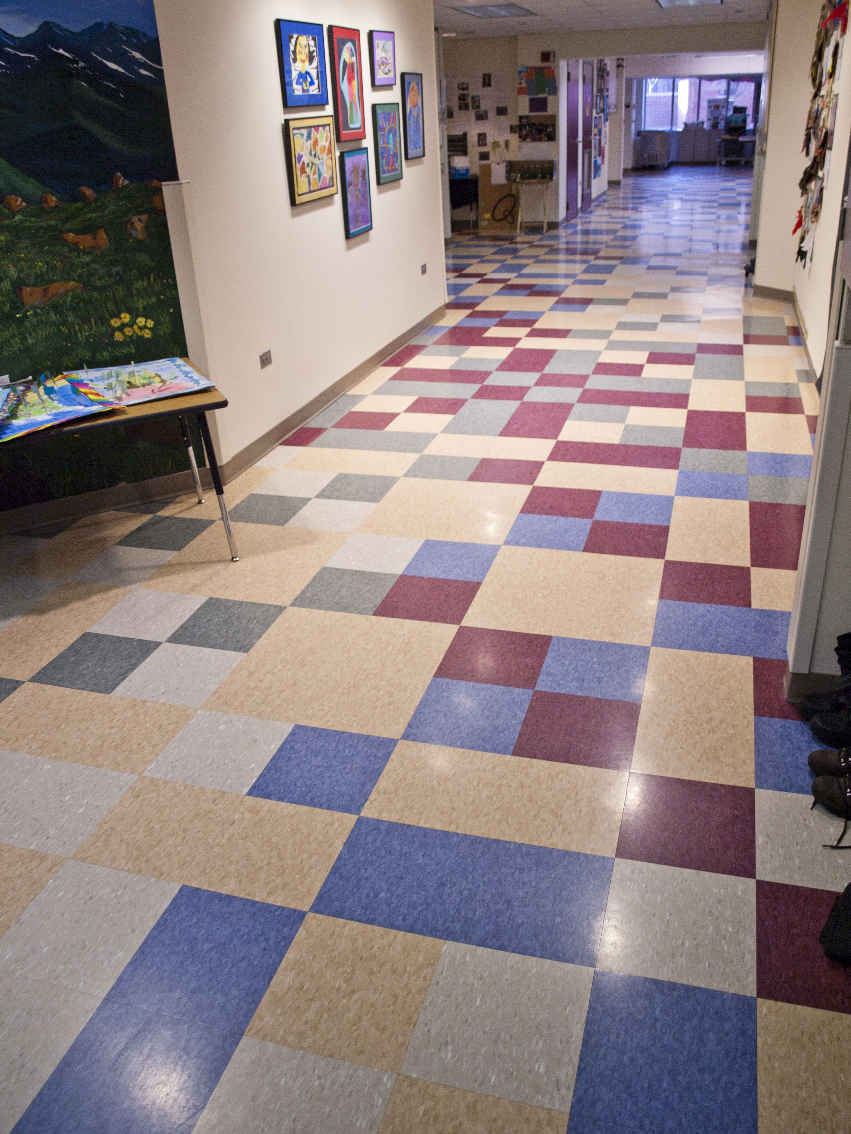 Awesome Flooring Using Chic Vct Tile Ideas Wonderful Pattern For