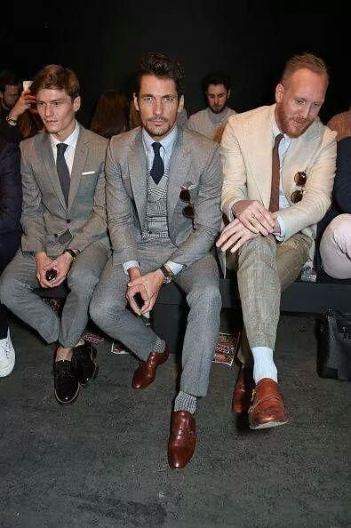cafb81ca5450 David Gandy with  Oliver Cheshire    joeottawaystyle Front row  Topman  presentation  LCMSS16