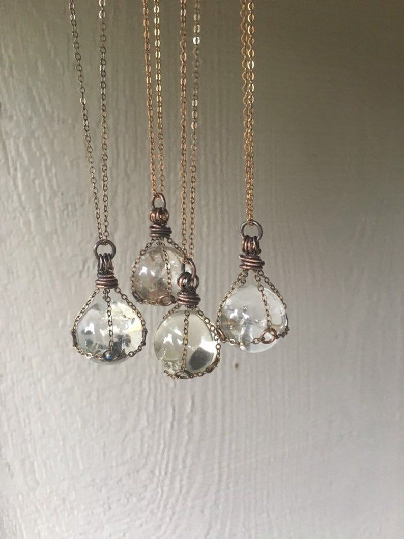 Clear Quartz / Crystal Ball Necklace / Healing Sto