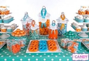turquoise and orange party