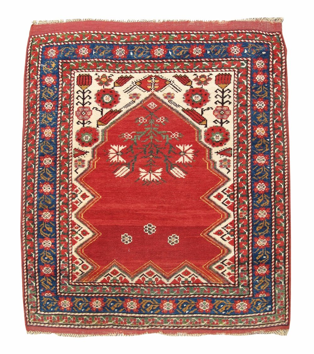 Bergama Prayer Rug, Turkey, 19th C (3rd Q)