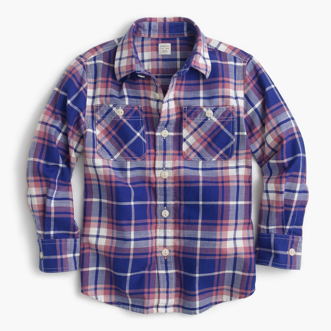 Flannel shirt with suit  crewcuts Boys Flannel Shirt In Cobalt Plaid Size  Kid  Shirts