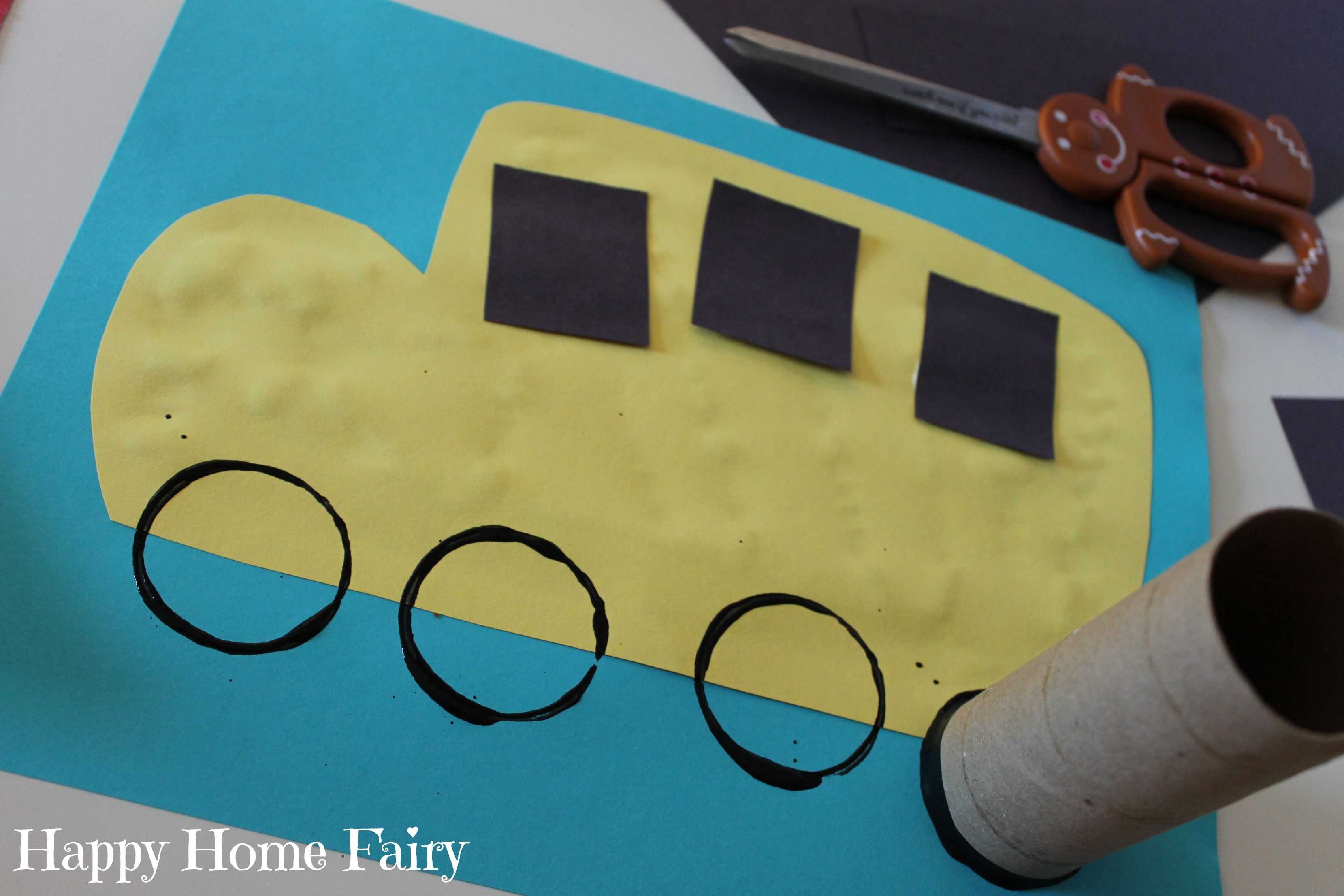 Easy School Bus Craft